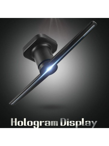 Faryuan lanch Black-tech product: Hologram LED fan with 3D holographic  advertising vision display screen.